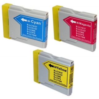 Pack de 3 Cartouches compatible Brother LC-1000/LC-970