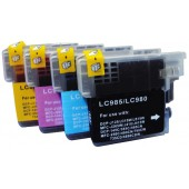 Pack 4 Cartouches compatible Brother LC-985